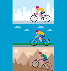 cycling backgrounds vector image