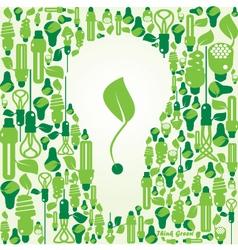 ecology energy environment green vector image