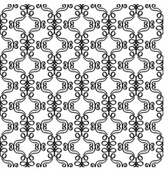 filigree retro style decorative pattern vector image vector image