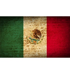 Flags Mexico with dirty paper texture vector image
