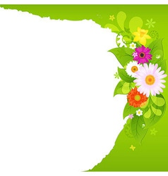Fragmentary Paper With Flowers vector image vector image