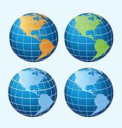 globe americas vector image