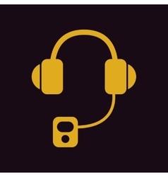 Headphones mp3 player vector
