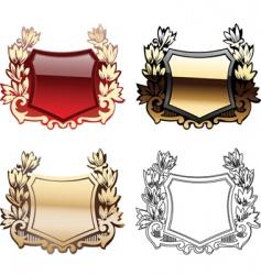 heraldry shields vector image vector image