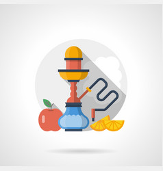 Hookah fruit flavors color detailed icon vector