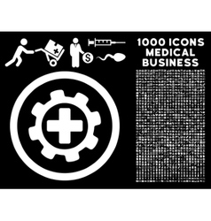 Medical settings rounded icon with medical bonus vector