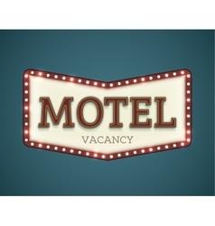 Motel roadsign vector