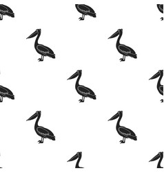 pelican icon in black style isolated on white vector image vector image