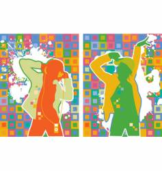 Pop artist dancers vector