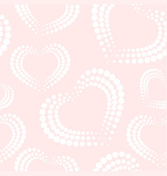 seamless pattern with white dotted hearts vector image