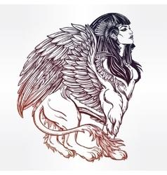 Sphinx beautiful ancient beast vector image