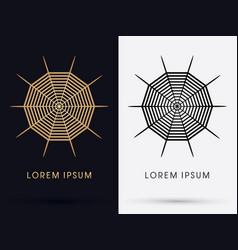 spiderweb logo vector image vector image