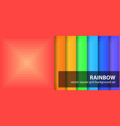 Square pattern set rainbow seamless geometric vector