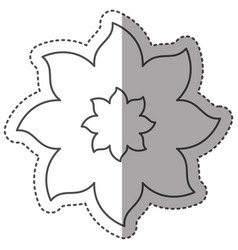 sticker monochrome contour with flower of eight vector image vector image