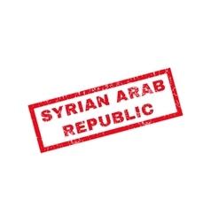 Syrian arab republic rubber stamp vector
