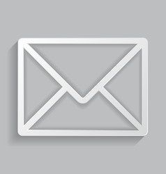 the icon of the envelope vector image
