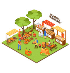 trade fair market vector image