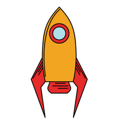 rocket startup launch icon vector image