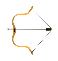 Hunting bowthe main weapon of the ancient mongols vector