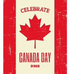 Canada Day Grunge Poster vector image