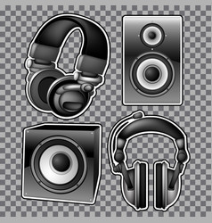 Headphones and speakers vector