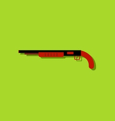 flat icon design collection military shotgun in vector image