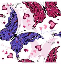 White seamless valentine pattern vector image