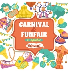 Fun fair and carnival poster vector