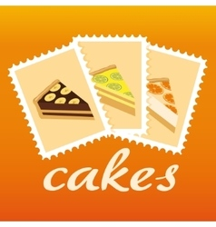 Cake stamps vector