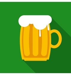 Overflowing beer mug vector