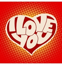Heart i love you inscription t-shirt style vector