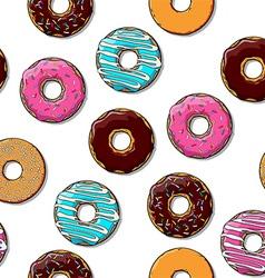 Cartoon donut vector image
