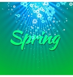 Green blue spring abstract background vector
