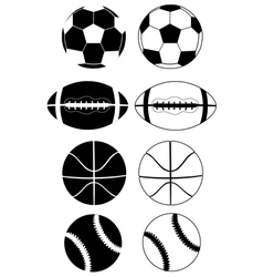balls black white vector image