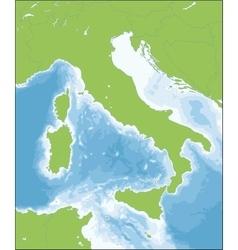 Italian republic map vector