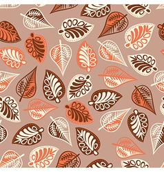 A seamless pattern with leafautumn leaf background vector image vector image