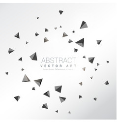 Abstract particles shatter of 3d triangles shapes vector