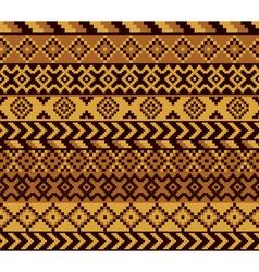 African pixel pattern vector