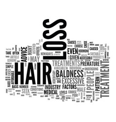 are hair loss treatments just one big scam text vector image