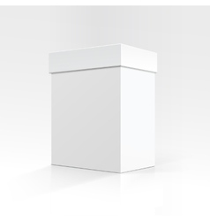 Blank Rectangular box in Perspective for package vector image vector image