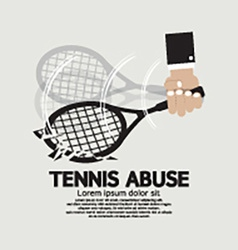 Breaking Down Tennis Abuse vector image vector image