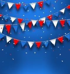 Bright Background with Bunting Flags for American vector image vector image