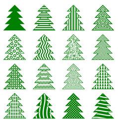 Christmas fir trees vector