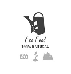 eco food logo template vector image vector image