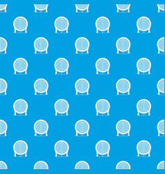 Electric heater pattern seamless blue vector
