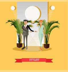 fashion stylist concept in vector image vector image