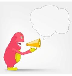 Funny Monster Speaker vector image