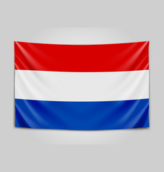 Hanging flag of netherlands netherlands holland vector