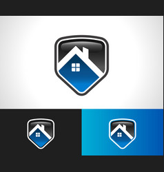 home roof shield security icon vector image vector image
