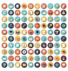 Icons flat colors business vector